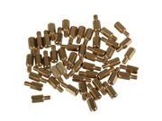 50 PCS 10mm+6mm Brass Hex Standoff Screw Pillars M4 PC Case Motherboard Risers