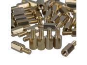 50 PCS 10mm+6mm Brass Hex Standoff Screw Pillars M3 PC Case Motherboard Risers