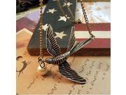 Lureme Vintage Pearl Bird Pendant Necklace