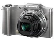 Olympus SZ-12 14MP Digital Camera with 24x Wide-Angle Zoom Silver
