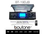Boytone BT-19DJB-C Multi RPM Turntable, Black