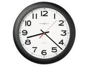 "Howard Miller Norcross Auto Daylight-Savings Wall Clock, 15-3/4"", Black, 1 AA"