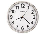 "Howard Miller Hamilton Wall Clock, 12"", Silver, 1 AA"