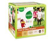 Seventh Generation 44080 Baby Diapers, Stage 4, 22-37 lbs, Tan, 54/Carton, 1 Carton