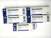 5X TERRAMYCIN pfizer 3.5grams--1/8 ounce Pet Eye Ointment for cat,dog,horse all animals( 5 tubes each 0.12oz=3.5g )/EXPIRY 2017