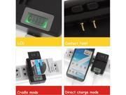 YIBOYUAN Universal LCD Cell Phone Battery Wall Travel Charger with USB Ourput for Samsung HTC Blackberry LG Nokia Sony ZIE LG Motorola Android Smartphone