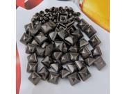 50 Set Metal Square Pyramid Spike Rivet Studs Spots Rock Punk 10mm