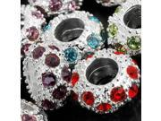 50 Spacer Crystal Rhinestone Beads Fit Charm 11x6mm HOT