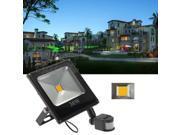 30W Waterproof White LED Floodlight Lamp PIR Motion Sensor AC100-240V Home