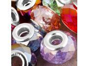 """50 X Crystal Glass Beads Fit European charm 0.55x0.35"""" HOT"""