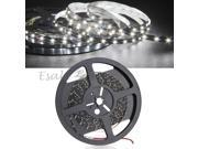 5M 3528 SMD 300 LED Strips Light Lamp White 12V DC Car Party Decor Black PCB