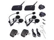 2 BT Bluetooth Motorcycle Helmet Interphone Intercom Headset 1200M 6 Rider
