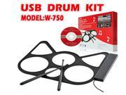 Mini MIDI Drum W750 Musical Accessory USB Roll Up Drum Drum Kit up to 6 pads USB Bus-powered