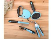 Luxury 5 Pieces a Set Dog Grooming Kit Including Finger Cut Steel Wire Brush Dog Lead Dog Comb