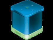 The iGlowSound™Cube Wireless Speaker w/  built-in Speakerphone - Blue