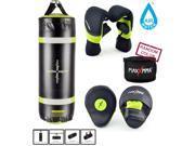 MaxxMMA Training & Fitness Heavy Bag + Heavy Bag Gloves, Mitts, Bamboo Hand Wrap