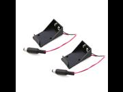 2Pcs DC 9V Battery Button Power Plug Box for Arduino Mega 2560 1280 UNO R3 128