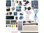 UNO R3 Starter Kits 1602 LCD Screen Servos Stepper Motor Ultrasonic Range Finder Dot Matrix for Arduino