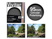 Vivitar 95mm Circular Polarizer Glass Filter