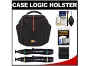 Case Logic DCB-304 High Zoom Digital Camera Holster Bag (Black) with LCD Protectors + Cleaning Accessory Kit