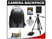 Bower SCB1350 Photo Pack Backpack Case (Black) with Deluxe Photo/Video Tripod + Nikon Cleaning Kit