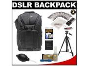 "Vivitar Series One Digital SLR Camera/Laptop Sling Backpack - Small (Black) Holds Most 14'"" Laptops with 58"" Tripod + Camera & Laptop Cleaning Kits"