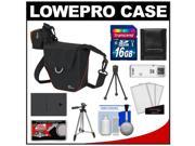 Lowepro Compact ILC Courier 70 Interchangeable Lens Digital Camera Case (Black) with BLS-1/BLS-5 Battery + 16GB SD Card + Tripod + Accessory Kit