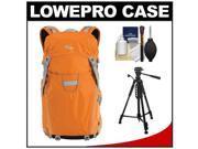 Lowepro Photo Sport 200 AW Digital SLR Camera Backpack Case (Orange) with Photo/Video Tripod + Accessory Kit