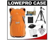 Lowepro Photo Sport 200 AW Digital SLR Camera Backpack Case (Orange) with Photo/Video Tripod + Nikon Cleaning Kit