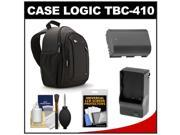 Case Logic TBC-410 Digital SLR Camera Sling Case (Black) with LP-E6 Battery & Charger + Accessory Kit for Canon EOS 6D, 7D, 5D Mark II III