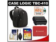 Case Logic TBC-410 Digital SLR Camera Sling Case (Black) with 32GB Card + EN-EL15 Battery + Accessory for D7000, D7100, D600, D800