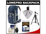 Lowepro Rover Pro 45L AW Digital SLR Camera Backpack Case (Galaxy Blue/Light Grey) with Tripod + Accessory Kit