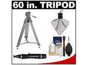 """Sunpak 60"""" Pro M2 Heavy Duty Video Tripod with Fluid Head & Case with Accessory Kit"""