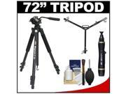 "Davis & Sanford 72"" Magnum XG13 Professional Photo/Video Tripod with Case + W3 Universal Dolly + Accessory Kit"