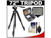 "Davis & Sanford 72"" Magnum XG13 Professional Photo/Video Tripod with Case + LED Light Kit + Cleaning Kit"