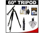 """Davis & Sanford CR3-60 60"""" CrossWise Tripod with Lateral Swivel Center Post (Legs Only) with Case + Cleaning & Accessory Kit"""