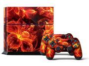 Sony PS4 PlayStation 4 Console Skin plus 2 Controller Skins - Fireblaze