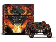 Sony PS4 PlayStation 4 Console Skin plus 2 Controller Skins - Firestorm