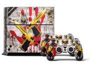 Sony PS4 PlayStation 4 Console Skin plus 2 Controller Skins - Ghost Ops