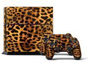 Sony PS4 PlayStation 4 Console Skin plus 2 Controller Skins - Leopard