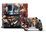 Sony PS4 PlayStation 4 Console Skin plus 2 Controller Skins - Mad Hatter