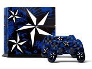 Sony PS4 PlayStation 4 Console Skin plus 2 Controller Skins -  North Star Blue