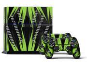 Sony PS4 PlayStation 4 Console Skin plus 2 Controller Skins -  Nuke Green