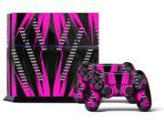 Sony PS4 PlayStation 4 Console Skin plus 2 Controller Skins -  Nuke Pink