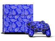 Sony PS4 PlayStation 4 Console Skin plus 2 Controller Skins -  Paisley Blue