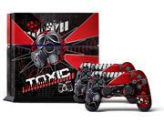 Sony PS4 PlayStation 4 Console Skin plus 2 Controller Skins -  Toxicity Red