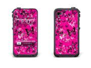 Skin for LifeProof Case for Apple iPhone 4/4s - Blossoms and Butterflies Pink