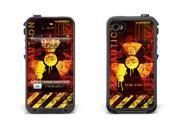 Skin for LifeProof Case for Apple iPhone 4/4s - Meltdown