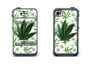 Skin for LifeProof Case for Apple iPhone 4/4s - Weeds White