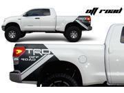 Toyota Tundra TRD 4X4 Matte Black Vinyl Decal - Off Road